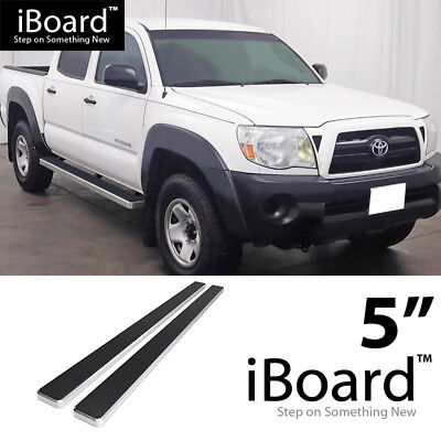 2005 Toyota Tacoma Double Cab >> 5 Silver Eboard Running Boards For 2005 2018 Toyota Tacoma