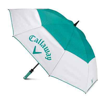 """New Callaway Uptown 60"""" Umbrella White/teal *authorized Dealer*"""