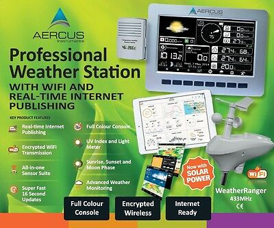 Aercus™ WeatherRanger® Pro WiFi Weather Station with Real-time Internet Access