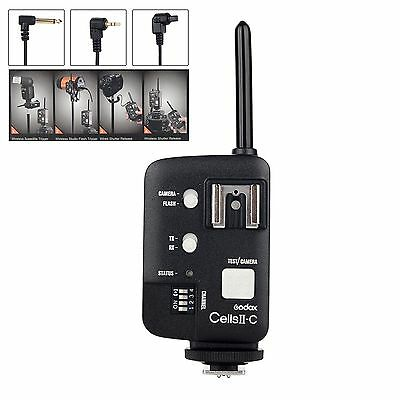 Godox Cells II-C Wireless High Speed Sync Transceiver flash Trigger for Canon