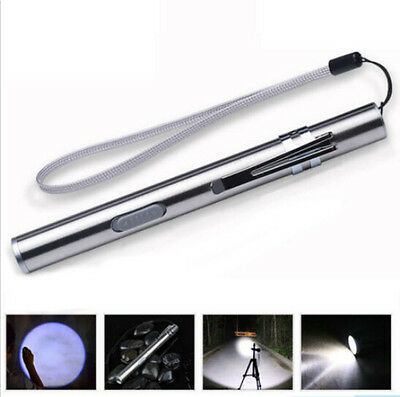500lm Q5 USB Rechargeable Flashlight Torch Cree Lamp Pen Size LED