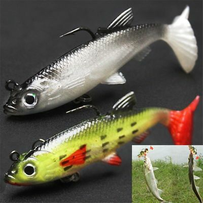 8cm 14g Life-like Lead Fishing Lure Bait Soft Baits Lures Tackle With Sharp Hook
