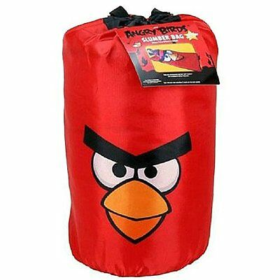 NEW Angry Birds Slumber Bag Red Backpack Sleeping Set FREE SHIPPING