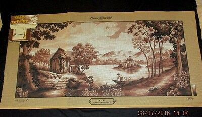 TAPESTRY MARGOT CREATIONS DE PARIS - LE LAC - D'apres NARUDALT- 100% FRANCE- NEW