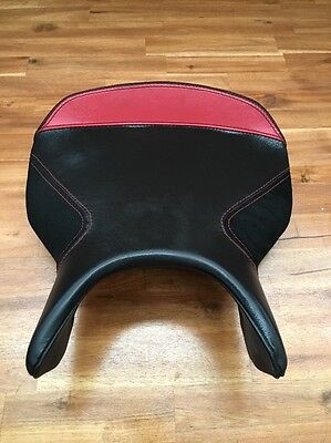 Ducati 749 999 Front Rider Seat Saddle Red Black Leather Custom Cover 59510531A
