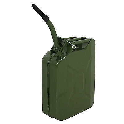 Segewe 5 Gal Jerry Can Gas Fuel Steel Tank Army Green Military Style 20L Gas Tan