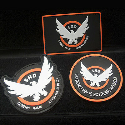 3 Pcs The Division Shd U.s. Army Usa 3D Pvc Rubber Morale Badge Tactical Patch