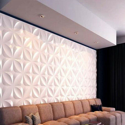 White 3D Wall Panels Embossed Signboard Background Art Decor Panel Wallpaper