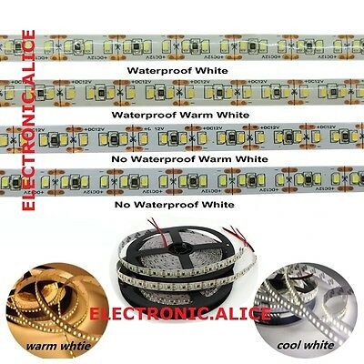 NEW 5M 1020leds 204led/m Super Bright 3014 SMD LED Strip White Waterproof DC 12V