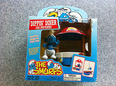 The Smurfs Dippin' Diner Playset plus Smurf Figure 1996
