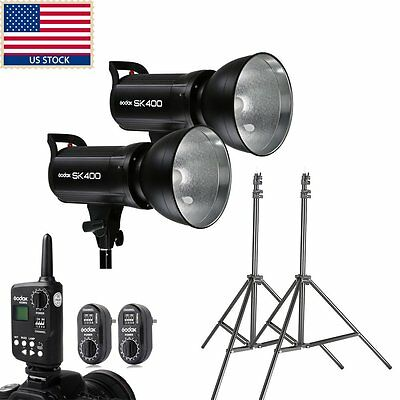 Godox 2x 400w SK400 Studio Strobe Flash Light Kit Set For Studio Photo Wedding