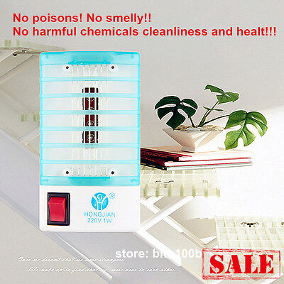 LED Socket Electric Mosquito Fly Bug Insect Trap Night Lamp Killer Zapper SALE W