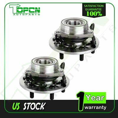 2 New Front For GMC Chevy Cadillac ABS 4WD 6 Bolt Wheel Hub and Bearing Assembly