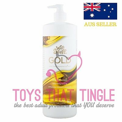 Wet Stuff Gold Personal Lubricant (1kg) Sex Lube pump pack