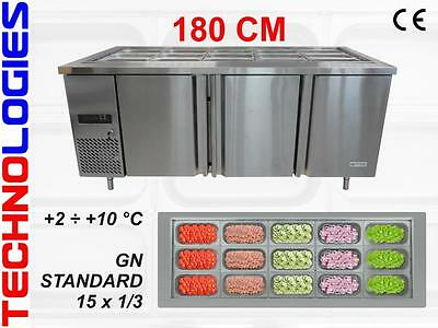 Refrigerated Salad Table Fridge Bar Pizza Kebab Catering 180Cm - New In Stock !