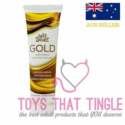 WET STUFF GOLD - Long Lasting Personal Lubricant for play / fun / sex 100g
