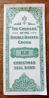 1960 Christmas Seals Greetings $5 Bond Ad Subscription Campaign Brochure