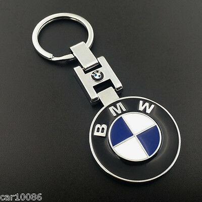 Nice CAR LOGO Keychain Double sided Pendant Key Chain Ring For BMW Free Shipping