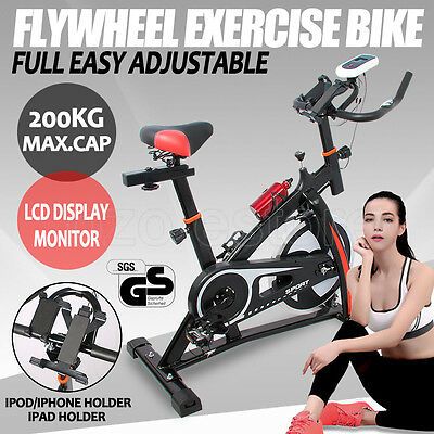 Commercial Spin Bike Flywheel Exercise Home Fitness Trainer Gym Pulse Monitor AU