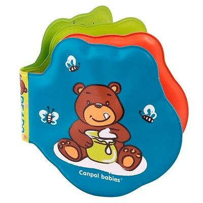 Changing Colour Bath Book Baby Waterproof Fun Toy With Squaker, Bears Canpol