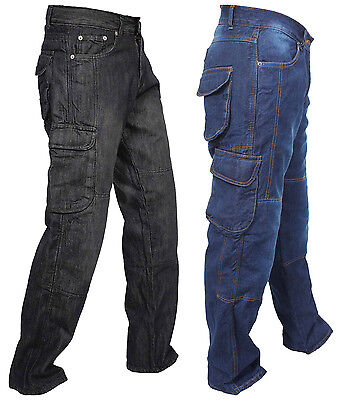 Motorcycle Motorbike Work Cargo Riding Trousers Jeans With Protection Lining