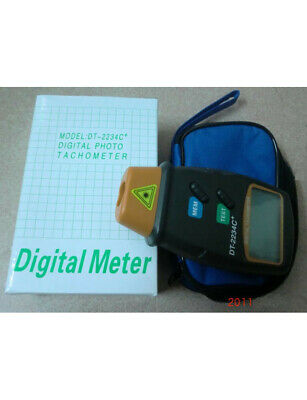 LCD Digital Laser Photo Tachometer Non Contact Auto RPM Tester DT-2234C+