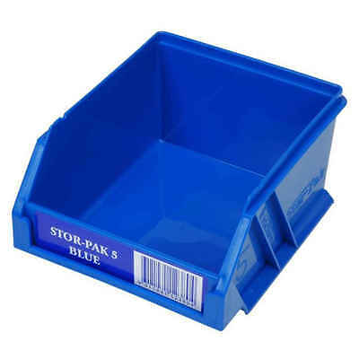 4 x Fischer Stor-Pak Blue-5 STORAGE BIN, for Spare Parts, Strong Durable Plastic
