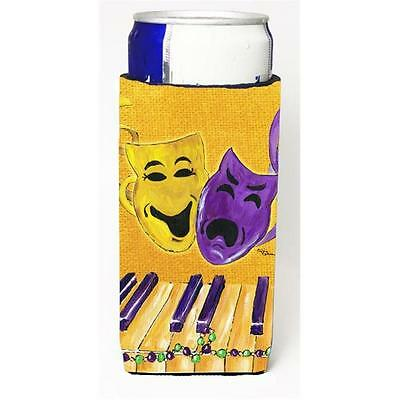 Mardi Grass Piano With Comedy And Tragedy Masks Michelob Ultra bottle sleeves...