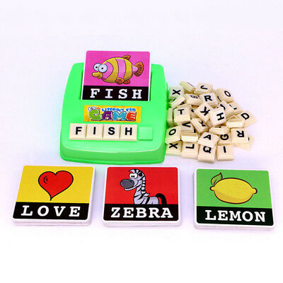 English Spelling Alphabet Letter Game Early Learning Educational Toy Kids
