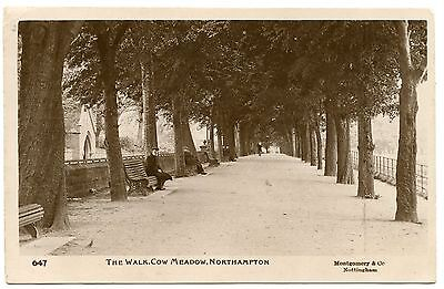 Old Rare Postcard The Walk Cow Meadow Northampton Dated 1912 (Ref: AK232)
