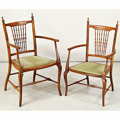 Salon Armchair x 2 - His & Hers - Arts & Crafts era (delivery available)