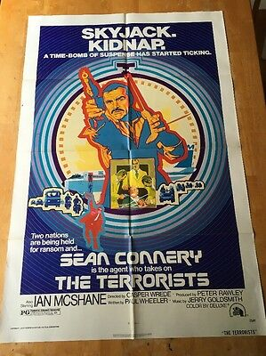 The Terrorists One Sheet Poster Sean Connery Ian Mcshane 1975