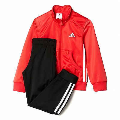adidas Essential Polyester Junior Girls Tracksuit Set Pink/Black