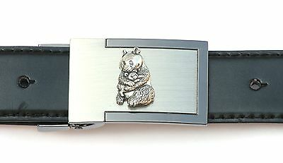 Panda and Cub Belt Buckle and Leather Belt in Gift Tin Ideal Wildlife Present