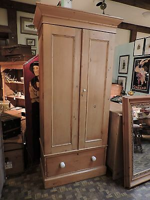Antique English European Pine Armoire. Cupboard .Cabinet. Great Size