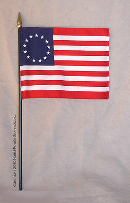 """HARTLAND Horse & Rider George Washington Replacement Betsy Ross 10"""" Fabric Flag"""