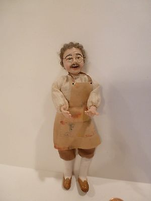 Miniature Doll Toy Maker By Cathy Ellis O'brien  Hand Sculpted