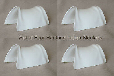 HARTLAND Steven Horse & Rider set of 4 Unpainted Plastic INDIAN SADDLE BLANKETS