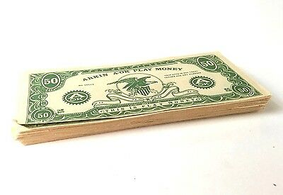 Vintage stack of Arkin Fake Play Money $100,000 bills toy game prop gag gift set