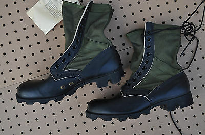 US Military Army JUNGLE BOOTS Spike Protective Men's 7.5 Wide NEW OD Cloth Side