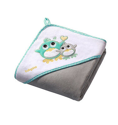 Extra LARGE 100x100cm VELOUR Hooded Baby Towel Bath Wrap 100%Cotton Grey Pinguin