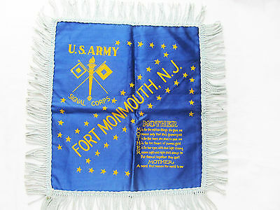 Vintage WWII ERA U.S. ARMY Signal Corps PILLOW COVER SHAM Mother MILITARIA