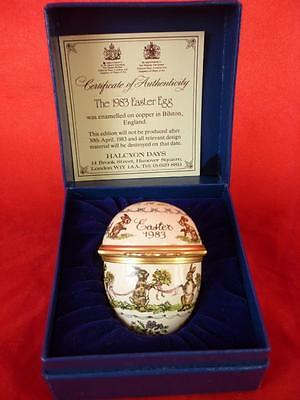 Halcyon Days Enamel Trinket Box,Easter Egg 1983  Boxed with Certificate