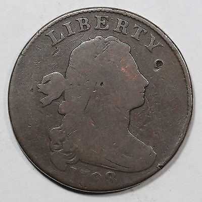 1798 S-176 R-4 2nd Hair Small 8 Draped Bust Large Cent Coin 1c