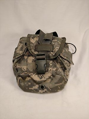 Excellent 1 QT CANTEEN Pouch -- MOLLE-- US Army ACU -- USGI