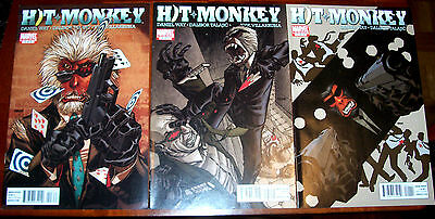HIT MONKEY #1-3 NM- Full Set! Daniel Way! 2010 Marvel From The Pages of Deadpool