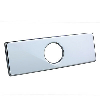 """SALE! 4"""" Polished Chrome Sink Hole Rectangular Cover Deck Plate EASY GENIC ONE"""
