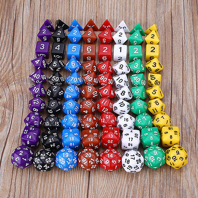 10Pcs Many-Sided Dice RPG BRPG Playing Games KTV For Families Friends Adults