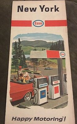 Vintage New York 1967 Esso Map
