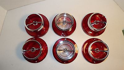 1963 63 Chevrolet Impala New 6 Taillight & Back-Up Lights With Chrome & Gaskets